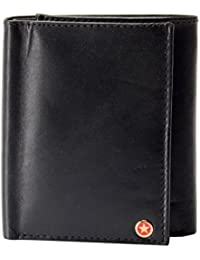PCS Leathers Black Men's Tri Fold Wallet (wallet 02_black)