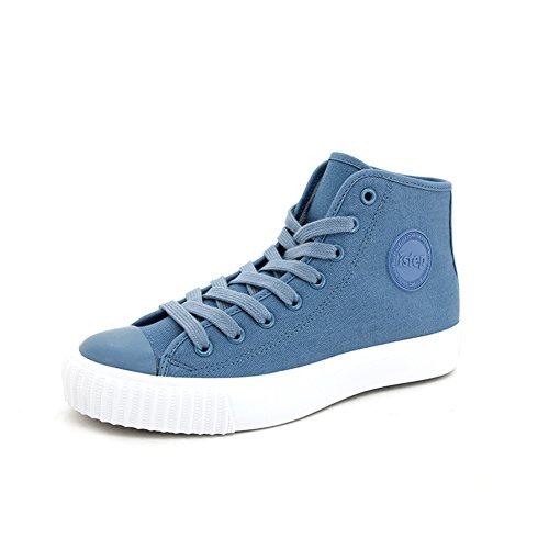 scarpe di tela high-top estate e autunno/Scarpe casual studente/Fondo piatto scarpe-F Lunghezza piede=22.8CM(9Inch)