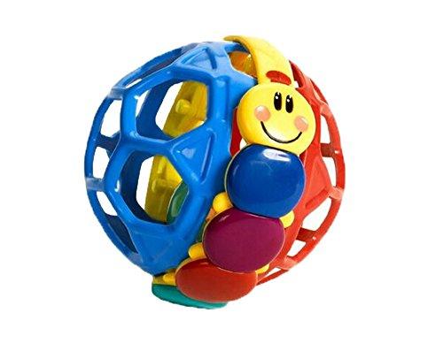 niceEshop(TM) Lustig Bendy Ball Baby Walker Musik Glocke Säugling Lernspielzeug (zufällige Farbe) (Kleine Einsteins Spielzeug)