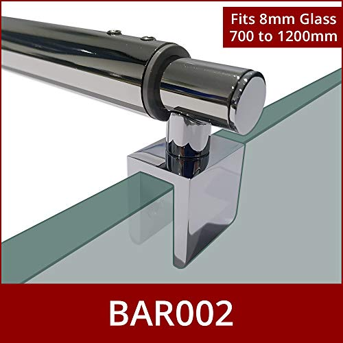 adatte per box doccia HAND023 Coppia di maniglie cromate per porta della doccia foro centrale 192 mm lunghezza 225 mm