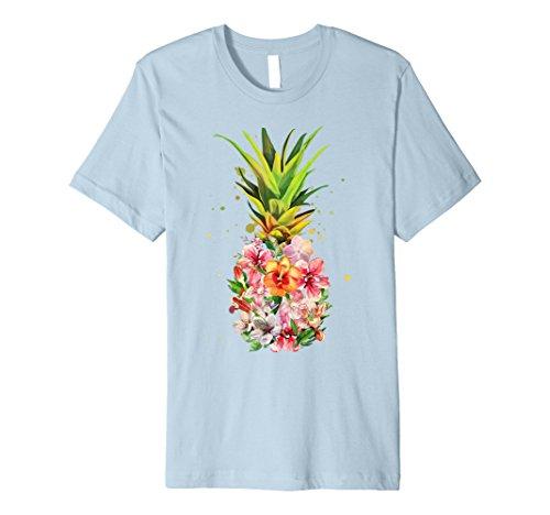 Ananas Blumen Aloha Hawaii–Vintage Hawaiian Shirt Tee