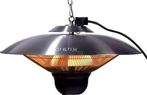 """Runder Decken-Heizstrahler \""""Cozy Ceiling\"""" mit Bluetooth-Lautsprecher und Fernbedienung, Heizlüfter Elektro-Heizgerät für innen und außen, ca. 50 x 50 x 24 cm"""