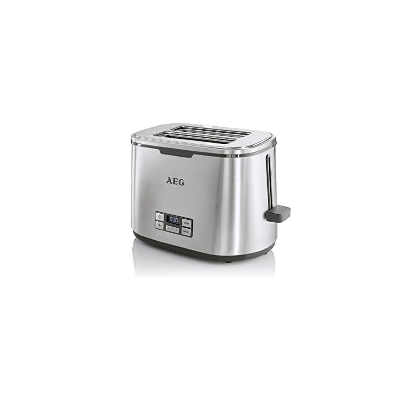 Aeg Toaster Premiumline 7series At 7800 Highcontrast Lcd Displaycountdown Toasten 7 Brunungsgradebrtchenaufsatz 2 Scheibenedelstahl