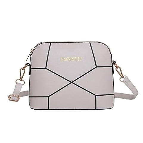 Hunpta Crossbody Shoulder Bag Women Fashion Handbag Crack Shoulder Bag Large Tote Ladies Purse