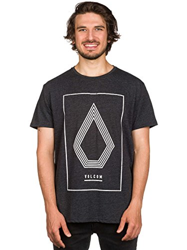 Volcom Line Art HTR Shirt Kurzärmelig Heather Heather Black