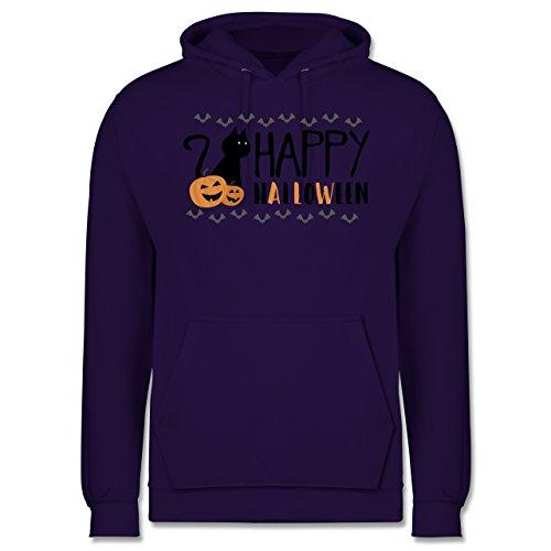 Halloween - Happy Halloween - Männer Premium Kapuzenpullover / Hoodie Lila