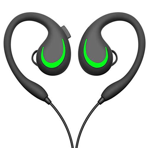on Ear Kopfhörer Sport Drahtloser Bluetooth Kopfhörer für Telefon mit Mic Kopfhörer Qualitäts(Grün,Free)
