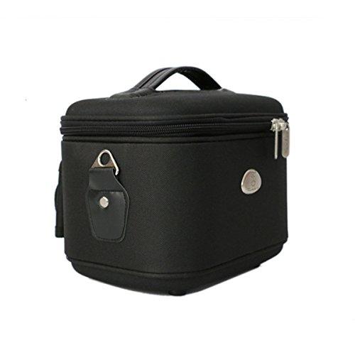 De Haute Qualité Cube Imperméable Luxe Léger épais Grande Capacité Sac à Cosmétiques Noir,Black-26*24*32cm