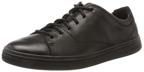 Clarks Norsen Lace, Zapatos de Cordones Derby para Hombre, Negro (Black Leather), 41 EU
