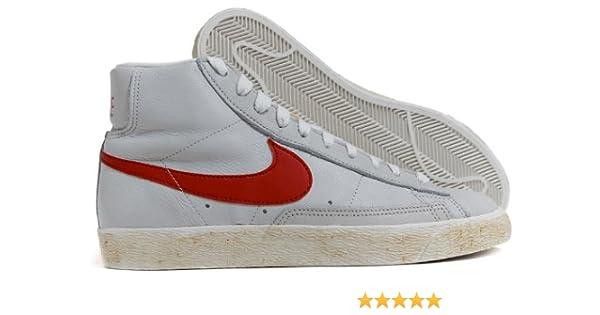 super popular 9b54e b2e49 Nike BLAZER BIANCA BAFFO ROSSO IN PELLE (36) Amazon.it Scarp