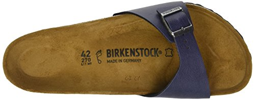 Birkenstock Madrid, Zoccoli Uomo, Various Blu (Pull Up Navy)