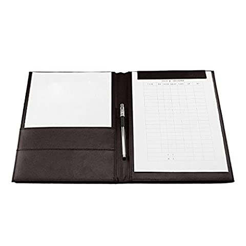 A4 PU Leather Multifunctional Business Document Briefcase Portfolio Office Conference Clipboard Folder Signature Pad with Magnetic Paper