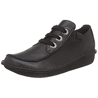 Clarks Funny Dream, Damen Derby Schnürhalbschuhe, Schwarz (Black Leather), 40 EU (6.5 Damen UK)