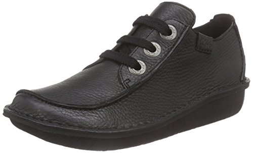 Clarks Funny Dream, Damen Derby Schnürhalbschuhe, Schwarz (Black Leather), 39 EU (5.5 Damen UK)