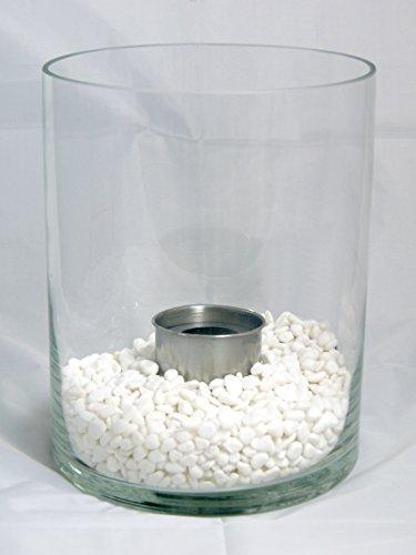 *org.CM-Design Bio-Ethanol-Gel XL-Glas-Kamin-Feuer Tischkamin Tischfeuer RUND NEU*