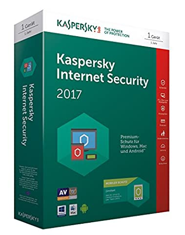 Kaspersky Internet Security 2017 | 1 Gerät + 1 Android Gerät | 1 Jahr | PC/Mac/Android | Download