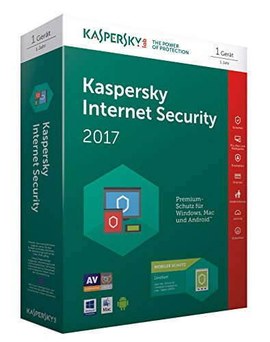 Kaspersky Internet Security 2017 + Kaspersky Internet Security für 1 Android Gerät...