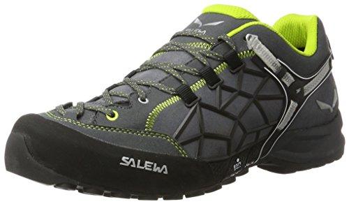Salewa Unisex-Erwachsene UN Wildfire Pro Kletterschuhe, Mehrfarbig (Carbon/Green), 46 EU