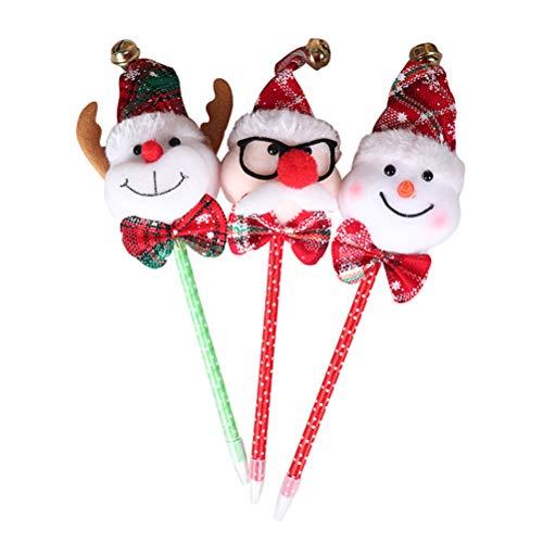 BESTOYARD Weihnachten Themed Kugelschreiber Geschenk Stifte für Weihnachten Urlaub Festliche Xmas Party Favors 3 Pcs