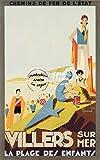 Herbé TM VILLERS sur MER Plage Rf82-Poster/Reproduction 40x60cm d1 Affiche Vintage/Ancienne/RéTRO