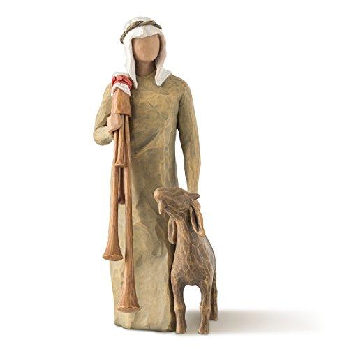 Euro Krippe (Willow Tree Zampognaro - Hirte mit Sackpfeife und Ziege als Ergänzung zur Willow Tree Nativity Krippe)