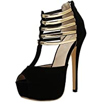 Sandalias Mujer Verano 2018 Casual �� Sandalias Peep Toe de Moda para Mujer Tacones Altos Plataformas Sandalias Zapatos de Fiesta Sandalias Tacones Finos