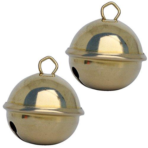 Cascabeles de oro (dorado) (2x Esfera 35 mm) Cascabeles musicales metal laton...