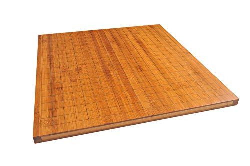 Quantum Abacus Xiangqi & Go Spielbrett - Luxus Spielfeld für Go (19x19) und chinesisches Schach aus 2,5kg schwerem Bambus, nur Spielbrett, Keine Spielsteine, 47cm x 44cm x 1,5cm, Mod. CL-020