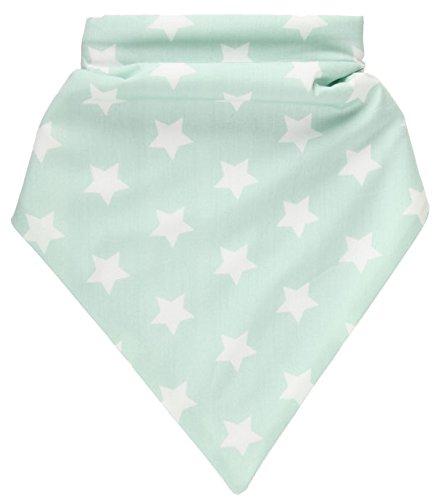 Bandana Lätzchen Mintgrün mit weißer Stern Unisex Baby Kinder Bandana Lätzchen Bib Dreieckstuch Halstücher mit Snaps. Mit bestickte BABY NAMEN !