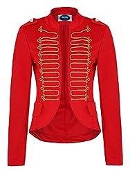 4tuality AO Damen Military Blazer Stickerei Slim fit Gr. XL Rot