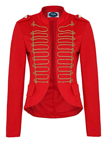 4tuality AO Damen Military Blazer Stickerei Slim fit Gr. S Rot