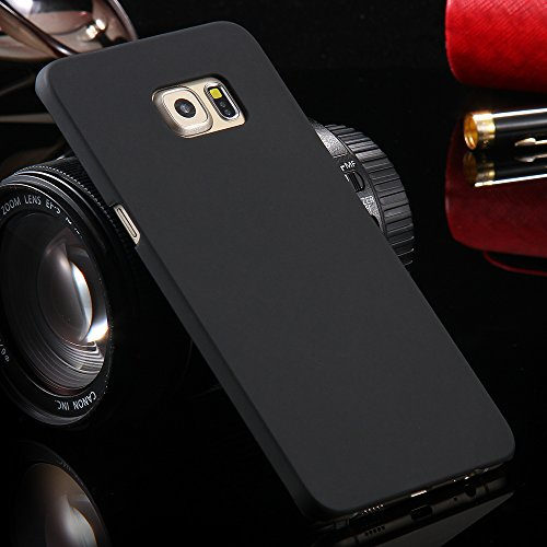 PES Rubberised Matte Hard Case Back Cover For Samsung Galaxy S6 edge - Black
