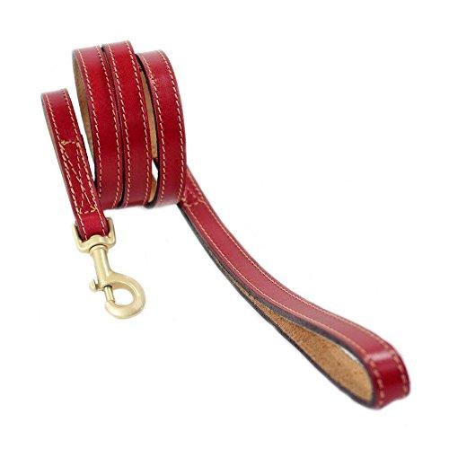 hartman-rose-pret-a-porter-leather-dog-lead-3-4-inch-ferrari-red