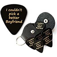 I couldn't pick a better Boyfriend 6 Guitar Picks With Leather Plectrum Holder Keyring