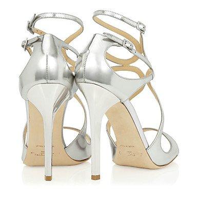 LvYuan Damen-Sandalen-Hochzeit Büro Kleid Lässig Party & Festivität-Kunstleder-Stöckelabsatz-Andere-Silber Gold Marinenblau Dark Blue