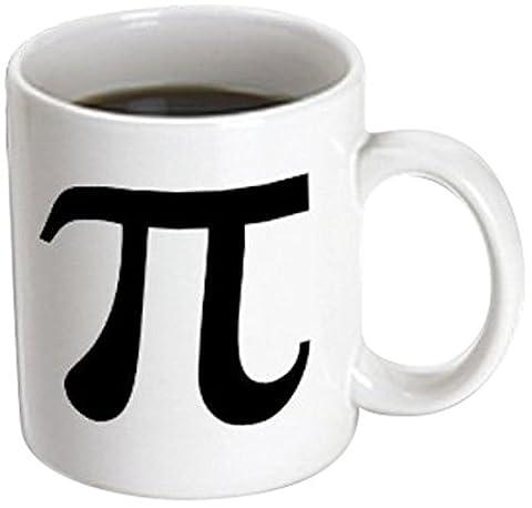 Mensuk mug_164891_1 Pi Symbol Math Sign Mathematical Black and White Mathematics Number Ceramic Mug, 11-Ounce