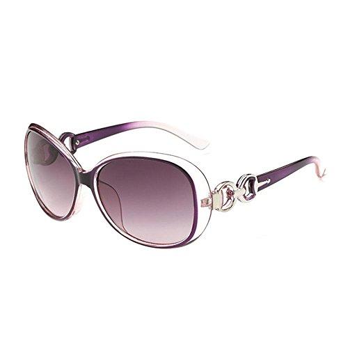 pawaca Sommer Vintage rund CAT EYE Brille Metall Rahmen Sonnenbrille für Frauen violett