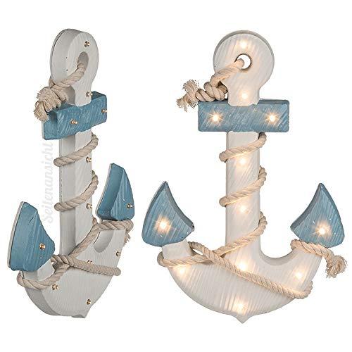 Preis am Stiel LED-Leuchte \'\'Anker\'\' | Marine | Bad | Dekoration | Wohnaccessoire | Deko | Badezimmer | Wohnzimmer | Flur | Küche | Geschenk für Freunde | Deko-Leuchte | Deko-Lampe