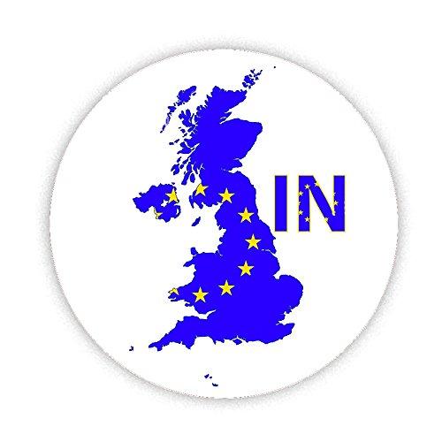 EU Referendum Abstimmung–in–auf EU-Flagge auf UK Karte bedruckt Bespoke entworfen 58mm Rund KOMPAKT Spiegel. Neuheit Make Up Spiegel ideal für Ihre Handtasche. Geschenke Kaboom (Geschenk-karte E-mail-lieferung)