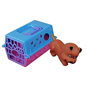com-four® Transportbox für Spielzeugtiere, z.B. Hund, Katze, Hase / inklusive Tier (Hund)