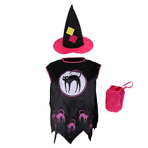 FLAMEER Mädchen Kleinkind Kleine Hexe Kostüm Halloween Kostüm - Kleinkind Kleine Hexe Kostüm