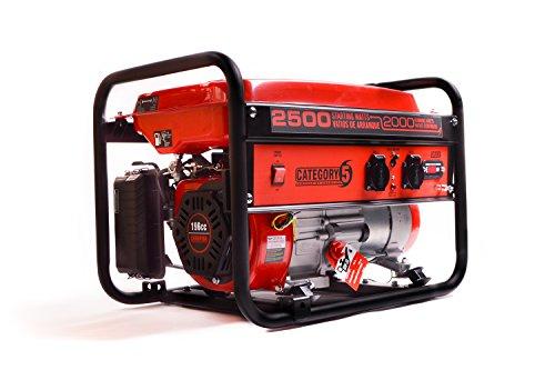 Benzin Generator 2500 Watt 230V powered by CHAMPION. 3 Jahre Garantie! Mobil & tragbar: Ideal für Camping & Outdoor. Stromaggregat klein & kompakt, Stromerzeuger, Notstromaggregat, Viertakt