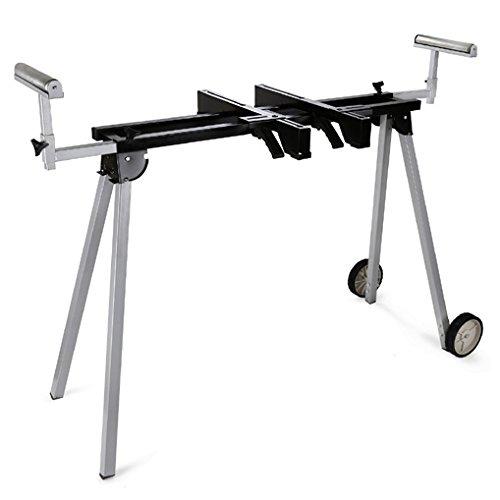 EBERTH 2700 mm Universal Maschinenständer (136 kg Tragkraft, 830 mm Tischhöhe, Rollenauflage, Füße klappbar, Transporträder)