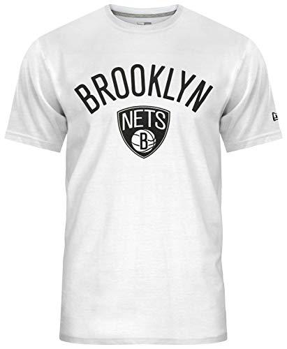 New Era Brooklyn Nets T-Shirt Herren, Weiß, XS (Brooklyn Nets-t-shirt)