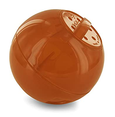PetSafe SlimCat Food-Dispensing Cat Toy Orange, Treat Toy, Interactive Food Dispenser, Activity Snack Ball for Cats of All Ages