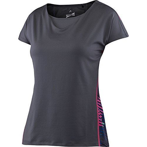 HEAD Damen T-Shirt Vision W Beth Plus Waterfall Grau, S -