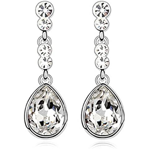 FANSING Joyería Hecho con el elemento de Swarovski Cristal Pendientes Colgantes Para Mujeres