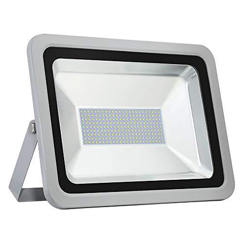 LED Flutlicht 150W, kaltweiß 6000-6500K, 12000lm im Freien Super helle Sicherheitsleuchten IP67 wasserdicht für Garten, Spielplatz, Garage, Rasen und Hof