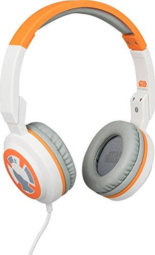 Star Wars Stereo On-Ear Kopfhörer mit Mikrofon und Lautstärkeregler für Handy -  BB8, Tribe HPW13004