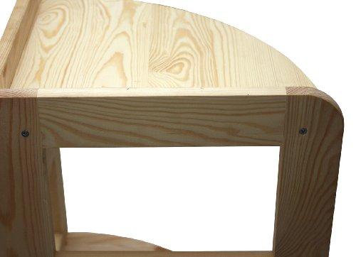 Ripiani In Legno Massello : Lenmar r 03 scaffale in legno massello 3 ripiani 89 x 33 x 33 cm
